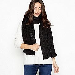 Nine by Savannah Miller - Black shimmer boucle scarf