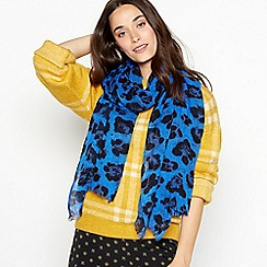Nine by Savannah Miller - Blue leopard print scarf