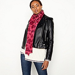 Nine by Savannah Miller - Bright Pink Leopard Print Scarf