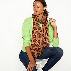 Nine by Savannah Miller - Natural Leopard Print Scarf