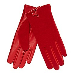 Principles - Red leather palm glove