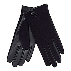 Principles - Navy leather palm glovess