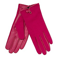 Principles - Bright pink leather palm gloves