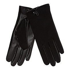 Principles - Black leather palm gloves
