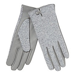 Principles - Grey leather palm gloves
