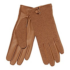 Principles - Tan leather palm gloves