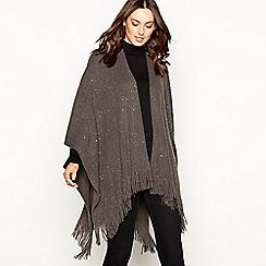 Principles - Grey sequin ribbed knit poncho