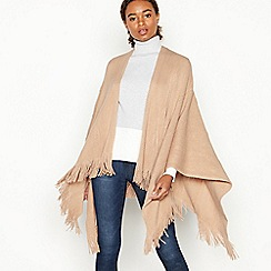 Principles - Natural Cable Knit Fringed Wrap