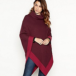 Principles - Dark red colour block poncho
