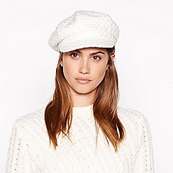 Principles - Cream sparkle tweed baker boy hat