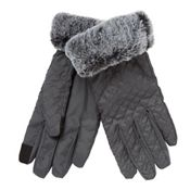 251e15783fd Principles - Grey quilted faux fur lined gloves