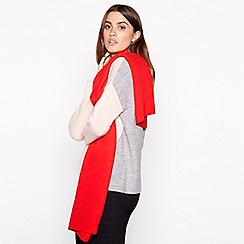 Principles - Red pleated scarf