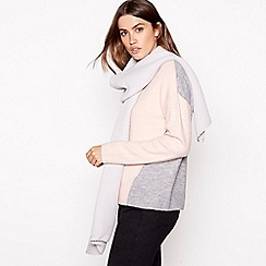 Principles - Grey pleated scarf