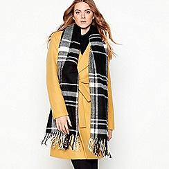 Principles - Black check print woven scarf