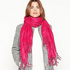 Principles - Bright pink glitter pleated pashmina