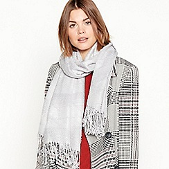 Principles - Grey sparkle pleated scarf