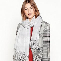 Principles - Grey sparkle pleated scarf