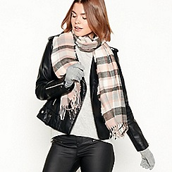Principles - Grey checked scarf and gloves set