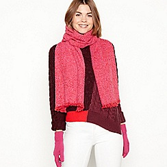 Principles - 2 piece pink boucle scarf and gloves gift set