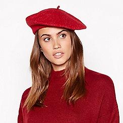 Principles - Red glitter wool beret
