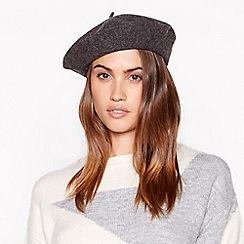 Principles - Grey glitter wool beret