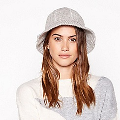 Principles - Light grey wool cloche hat