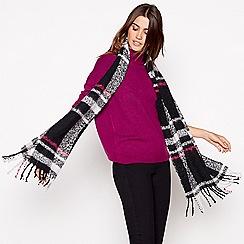 Principles - Black double check scarf