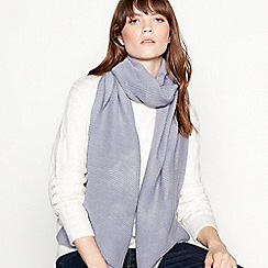 Mantaray - Blue plain pleat scarf