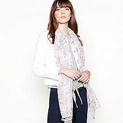 Mantaray - Ivory floral ditsy print scarf