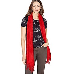 Principles - Red Textured Scarf