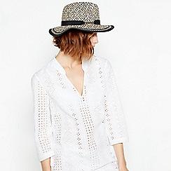 J by Jasper Conran - Multicoloured Braid Fedora Hat