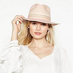MW by Matthew Williamson - Pale Pink Fedora Hat
