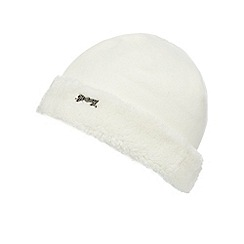 Mantaray - Girls' cream fleece hat