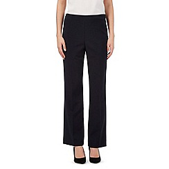 The Collection Petite - Navy Pablo straight fit trousers