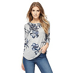 The Collection - Grey floral print top