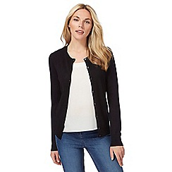 The Collection Petite - Black crew neck cardigan