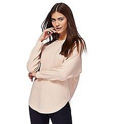 The Collection - Light pink textured dolman sleeves jumper