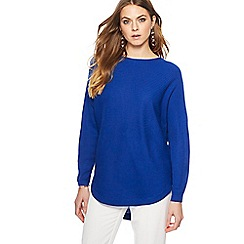 The Collection - Blue textured dolman sleeve jumper