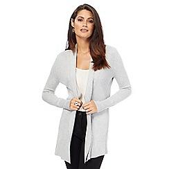 The Collection - Light grey shawl collar cardigan