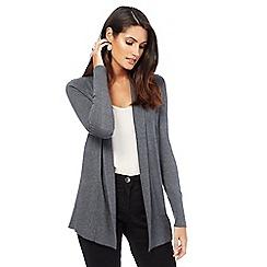 The Collection - Grey shawl collar cardigan