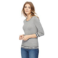 The Collection - Grey zipped shoulder jumper