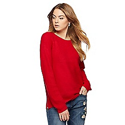 The Collection - Red chunky knit jumper