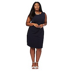 The Collection - Navy knee length plus size shift dress