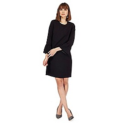 The Collection Petite - Black flute sleeves shift dress