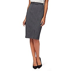 The Collection Petite - Grey textured suit skirt