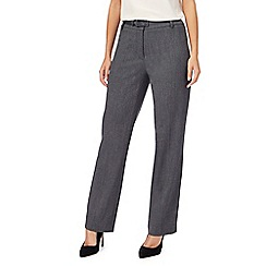 The Collection Petite - Grey textured straight leg suit trousers