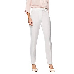 The Collection - Ivory slim leg trousers