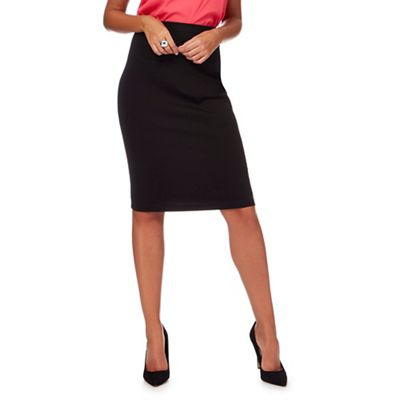 The Collection   Black Ponte Skirt by The Collection