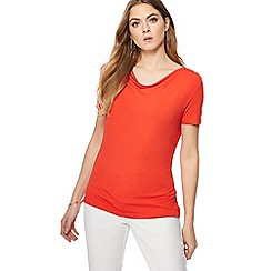 The Collection - Red cowl neck t-shirt