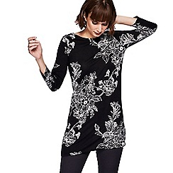 The Collection - Black floral print tunic top